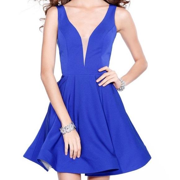 Shail K. Dresses & Skirts | Royal Blue Fit Flare Cocktail Short ...